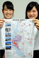 徳島市立高の防災委員会が製作した「地震・津波避難支援マップ」