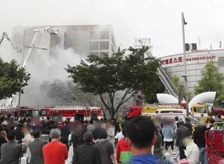 ビル火災で煙まん延、韓国