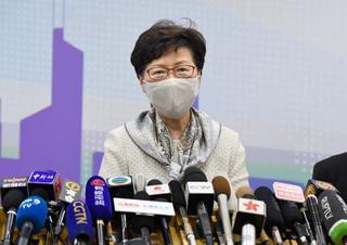 「香港安全法、断固進める」