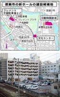 新ホールの建設候補地に挙がっている徳島駅西側の平面駐車場=徳島市寺島本町西1
