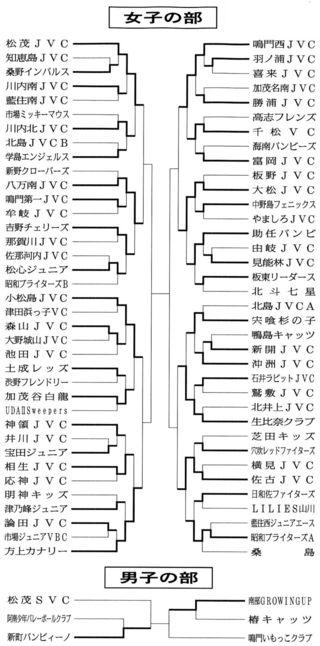徳島県バレーボール小学生選手権第2日の試合結果