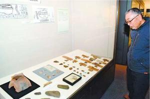 鳥居龍蔵が調査した城山貝塚の出土品=徳島市の県立博物館