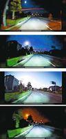 河村さんが撮影した「火球」(上から下へ)=29日午前1時35分ごろ、藍住町の県道