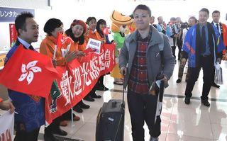 徳島ー香港「季節定期便」が就航 阿波おどり空港で歓迎セレモニー