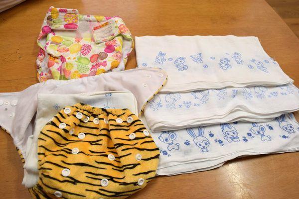 上勝町が贈る布おむつの本体や防水カバーのセット