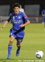 徳島時代のDF西嶋=2011年10月、鳴門ポカリスエットスタジアム