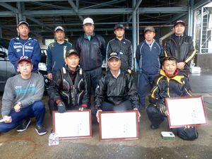 県釣連盟クラブ対抗グレ釣り大会入賞者の皆さん