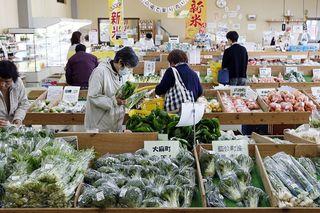 こだわりの野菜並ぶ  喜多野安心市【行ってみんで産直市】
