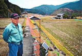 中山間地交付金の支払い対象 県内農地5年で16・5%減 18年度
