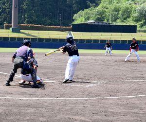 野球によるまちづくりに向け、さまざまな大会が開かれているJAアグリあなんスタジアム=同市桑野町