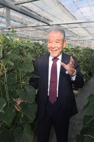 「きゅうりタウン構想」を推進するJAかいふ組合長 浜﨑禎文さん