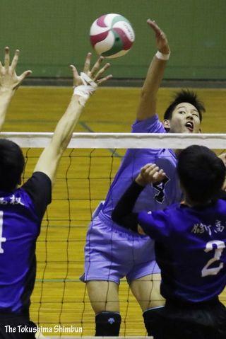 バレーボール徳島県高校選手権男子 徳島科技初優勝  女子 富岡東6年ぶり5度目の栄冠