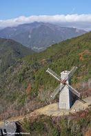 地域のシンボル 木沢風車(那賀町)【ドローン空撮】