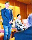 とくしまマラソン、中国の招待選手が副知事表敬