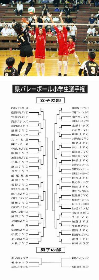 県バレーボール小学生選手権 第2日