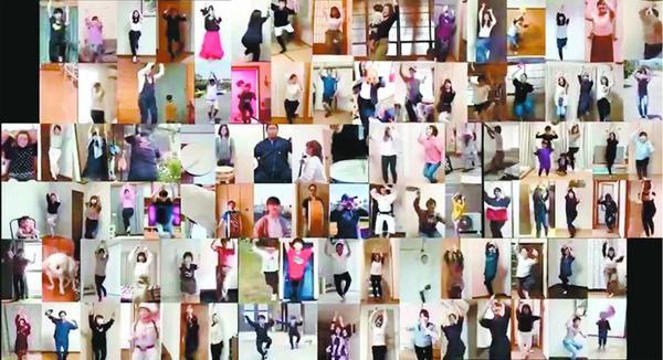 森下さんと海老名さんが作った阿波踊りのPR動画