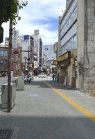 路線価の県内最高地点となった徳島駅前通り=徳島市一番町3