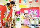 徳島市の園児、カレー作りでインド文化学ぶ