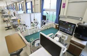 大阪府内の新型コロナ患者の重症者用施設
