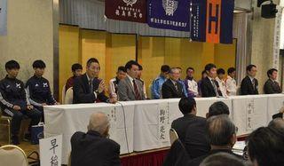 ペースランナー務める東京六大学選手を歓迎 とくしまマラソン2019