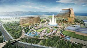 カジノを含む統合型リゾート施設のイメージ(MGMリゾーツ・インターナショナル、オリックス提供)