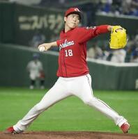 7回3失点で4勝目を挙げた広島・森下=東京ドーム