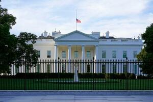 米ホワイトハウス=19日、ワシントン(AP=共同)