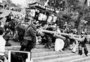 「暴れ屋台」威勢良く 山川 川田八幡神社で祭り