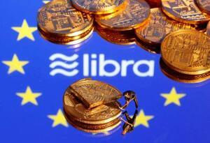 米フェイスブックが計画する仮想通貨「リブラ」のロゴ(ロイター=共同)