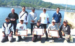 県釣連盟クラブ対抗県外磯釣り大会入賞者の皆さん