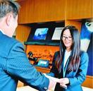 美馬市の国際交流員に中国出身の女性着任