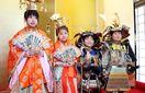 武将やお姫さま気分でポーズ 徳島城博物館で仮装イベ…