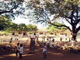 図書館が建設されるトリアル小学校=カンボジア(アプサラ提供)