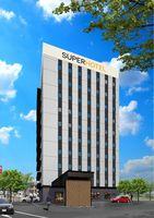 阿南市内に来夏オープンするスーパーホテルの完成予想図(スーパーホテル提供)