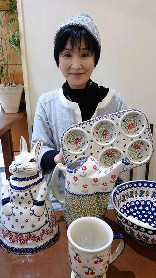 鴻野由紀子さん(ポーランド食器を通信販売)