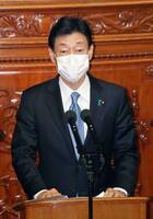 衆院本会議で経済演説をする西村経済再生相=18日午後