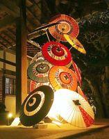 東京都内で開催される「和ルミネーション」に出展される和傘タワー(小林さん提供)