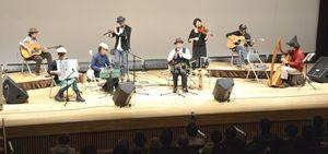美しい音色を披露したケルト音楽のコンサート=北島町立図書館・創世ホール