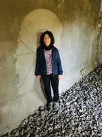 多和田葉子さん=ドイツ・ベルリン(エレナ・ヤヌリス氏撮影・共同)