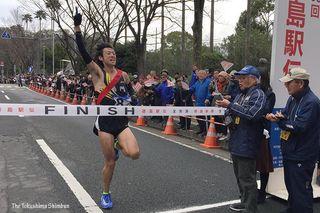 【写真特集】ゴールの瞬間 第65回記念徳島駅伝
