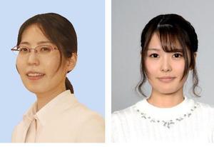 里見香奈女流四冠(左)、里見咲紀女流初段(右)