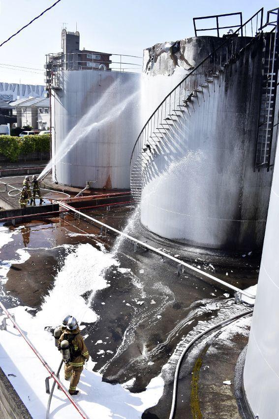 徳島市で石油タンク1…