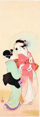上村松園、鏑木清方ら名品105点 美人画四季の情緒…