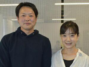濱西秀範さん(左)、祐佳さん夫妻