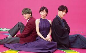 7月スタート火曜ドラマ『プロミス・シンデレラ』に出演する(左から)眞栄田郷敦、二階堂ふみ、岩田剛典 (C)TBS