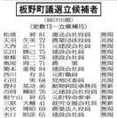 板野町議選6日投開票 当落線上に5人程度