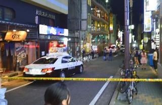 名古屋での繁華街男性襲われ死亡
