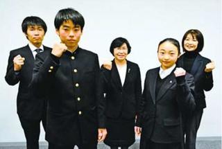 徳島市立高の男子テニス部と新体操部が活躍誓う