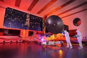 H2Aロケットで打ち上げる火星探査機HOPE(ムハンマド・ビン・ラシード宇宙センター提供)
