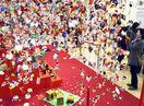女児の健やかな成長願い 徳島市で雛のつるし飾り展